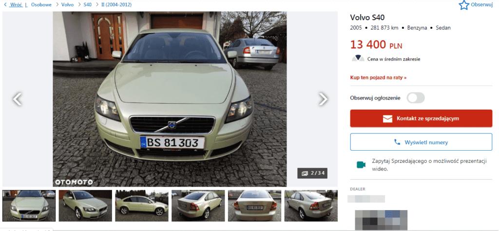 sprawdzenie samochodu z Danii