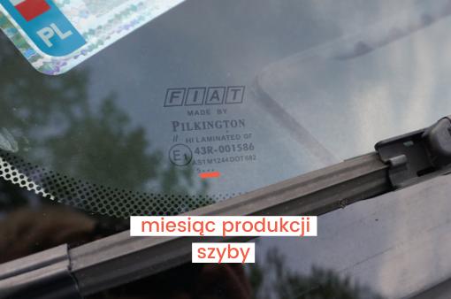 miesiąc produkcji szyby - oznaczenia szyb samochodowych